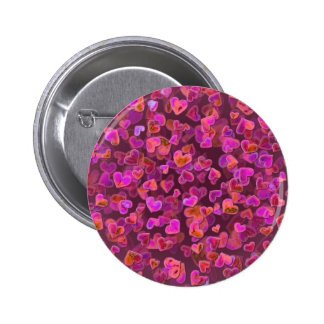Hearts Scatter Pinback Button