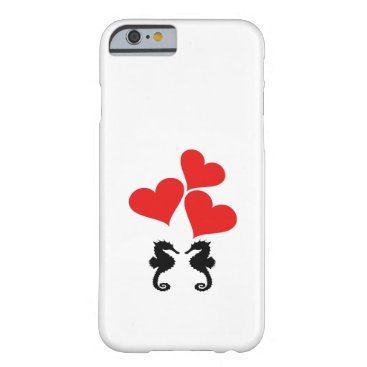 Beach Themed Hearts & Seahorse Barely There iPhone 6 Case