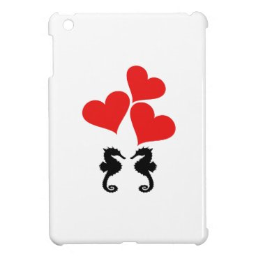 Beach Themed Hearts & Seahorse iPad Mini Cases