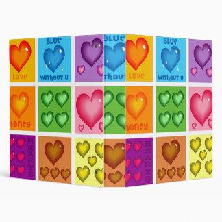 Hearts Set Vinyl Binders