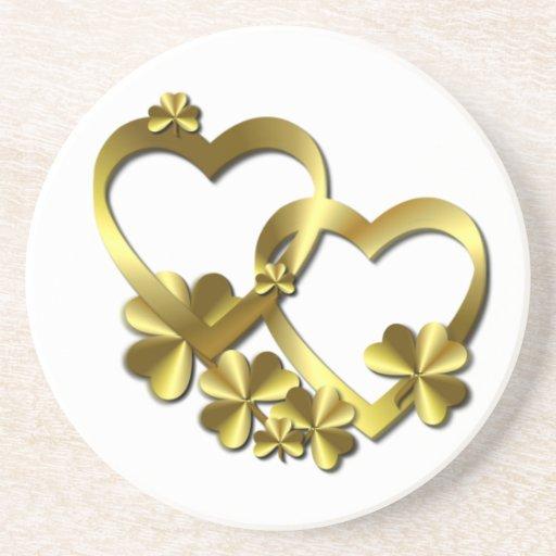 HEARTS & SHAMROCK ~ Coaster
