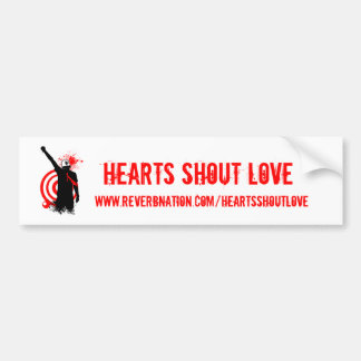 Hearts Shout Love REVERB Bumper Sticker