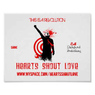 Hearts Shout Love UPRISE Logo Poster