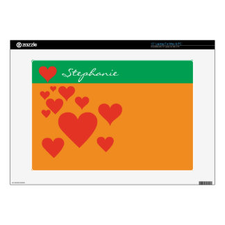 """Hearts Skin 15"""" Laptop Skins"""