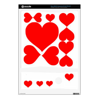 Hearts Skin For Xbox 360 S