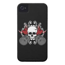 Hearts Skull Guitars Music iPhone 4 Case