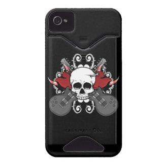 Hearts Skull Guitars Music iPhone 4 Case casemate_case