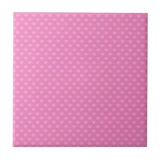 Hearts Small Square Tile