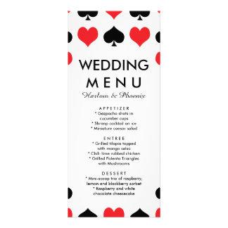 Hearts Spades Casino Wedding Menu