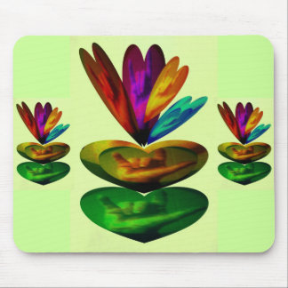 Hearts Speak I Love You in ASL Mouse Pads