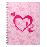 Hearts Spiral Note Book