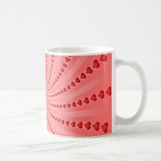 Hearts Spiral: Vector Artwork: Coffee Mug