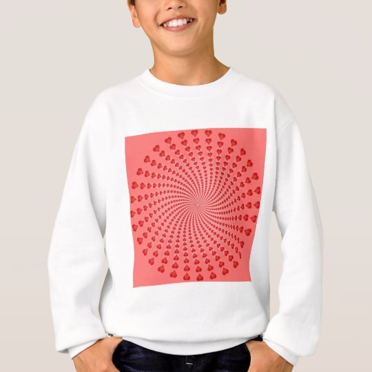Hearts Spiral: Vector Artwork: Sweatshirt