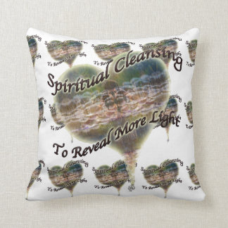 Hearts Spiritual Cleansing by Deprise Throw Pillow