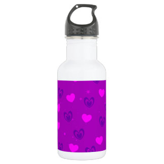 Hearts Stainless Steel Water Bottle
