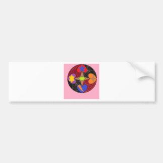 hearts star bumper sticker