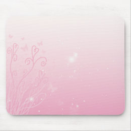 Hearts, Stars, and Butterflies Mouse Pad