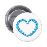 Hearts & Stars Butterfly Heart Buttons