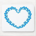 Hearts & Stars Butterfly Heart Mouse Pad