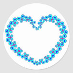 Hearts & Stars Butterfly Heart Classic Round Sticker