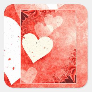 Hearts! Square Sticker