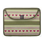 Hearts & Stripes custom Macbook sleeve MacBook Pro Sleeve