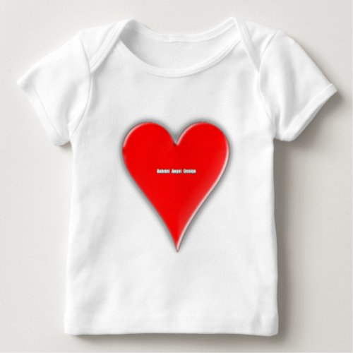 Hearts Suit Baby T_Shirt