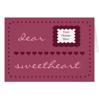 Hearts Sweetheart Birthday template card