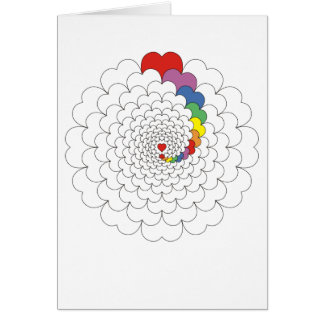 Hearts Swirl Greeting Card
