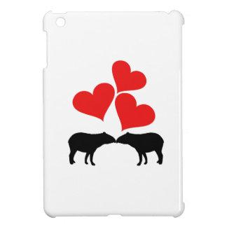 Hearts & Tapirs iPad Mini Cover
