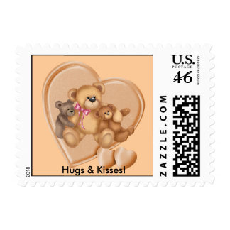 Hearts Teddy Bear Love Postage