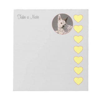 Hearts Template Notepad
