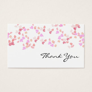 Hearts thank you business card