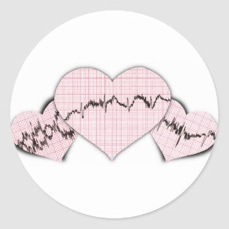 Hearts Together Classic Round Sticker