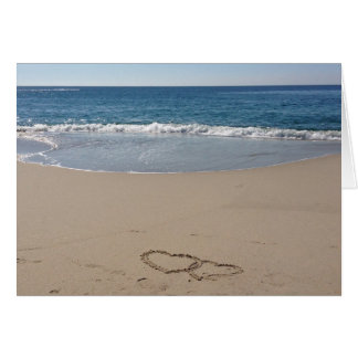 Hearts Together in the Sand Card