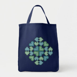 Hearts Touch Cross Stitch Tote Bag