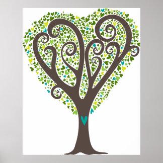 Hearts Tree Poster