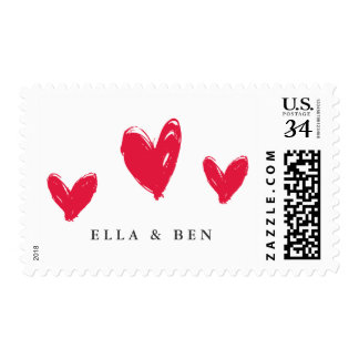 Hearts trio or Valentines day postage