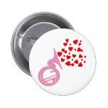 Hearts Tuba Button