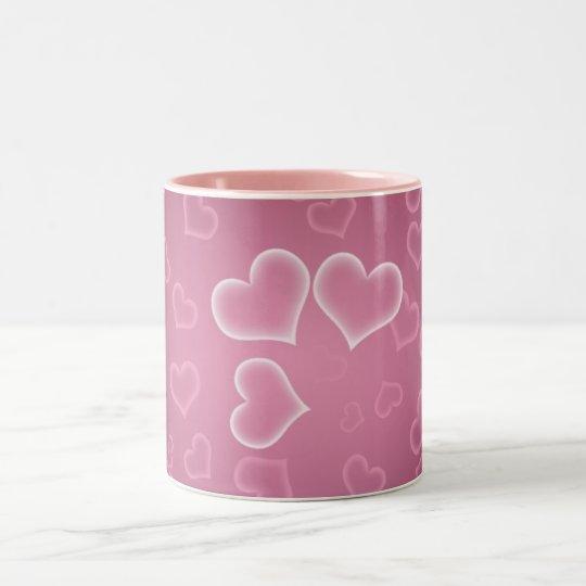 Hearts Two-Tone Coffee Mug
