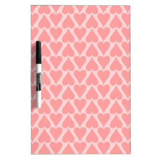 Hearts Valentine's Day Background Coral Pink Dry-Erase Whiteboard