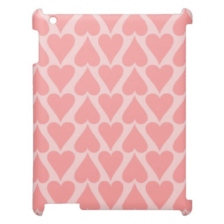 Hearts Valentine's Day Background Coral Pink iPad Covers