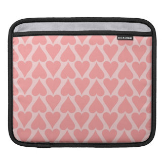 Hearts Valentine's Day Background Coral Pink iPad Sleeve