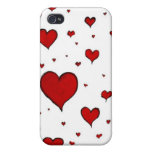 Hearts Valentines Day iPhone 4 Covers