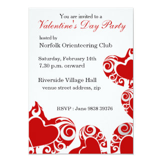 Hearts Valentine's Day Party Invitation