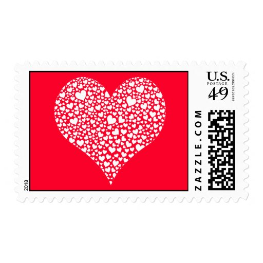 hearts Valentine's Day Postage Stamps