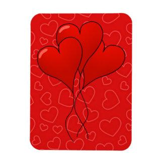 Hearts Valentine's Day Premium Flexi Magnet