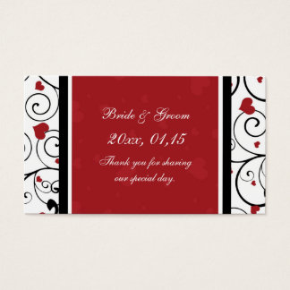 Hearts Valentine's Day Wedding Favor Tags