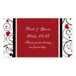 Hearts Valentine's Day Wedding Favor Tags Business Card Templates