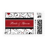 Hearts Valentine's Day Wedding Stamps